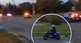 Экс-солдат удрал от 11 полицейских машин на скутере (ВИДЕО)